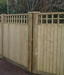 Wooden Slotted Fence Posts