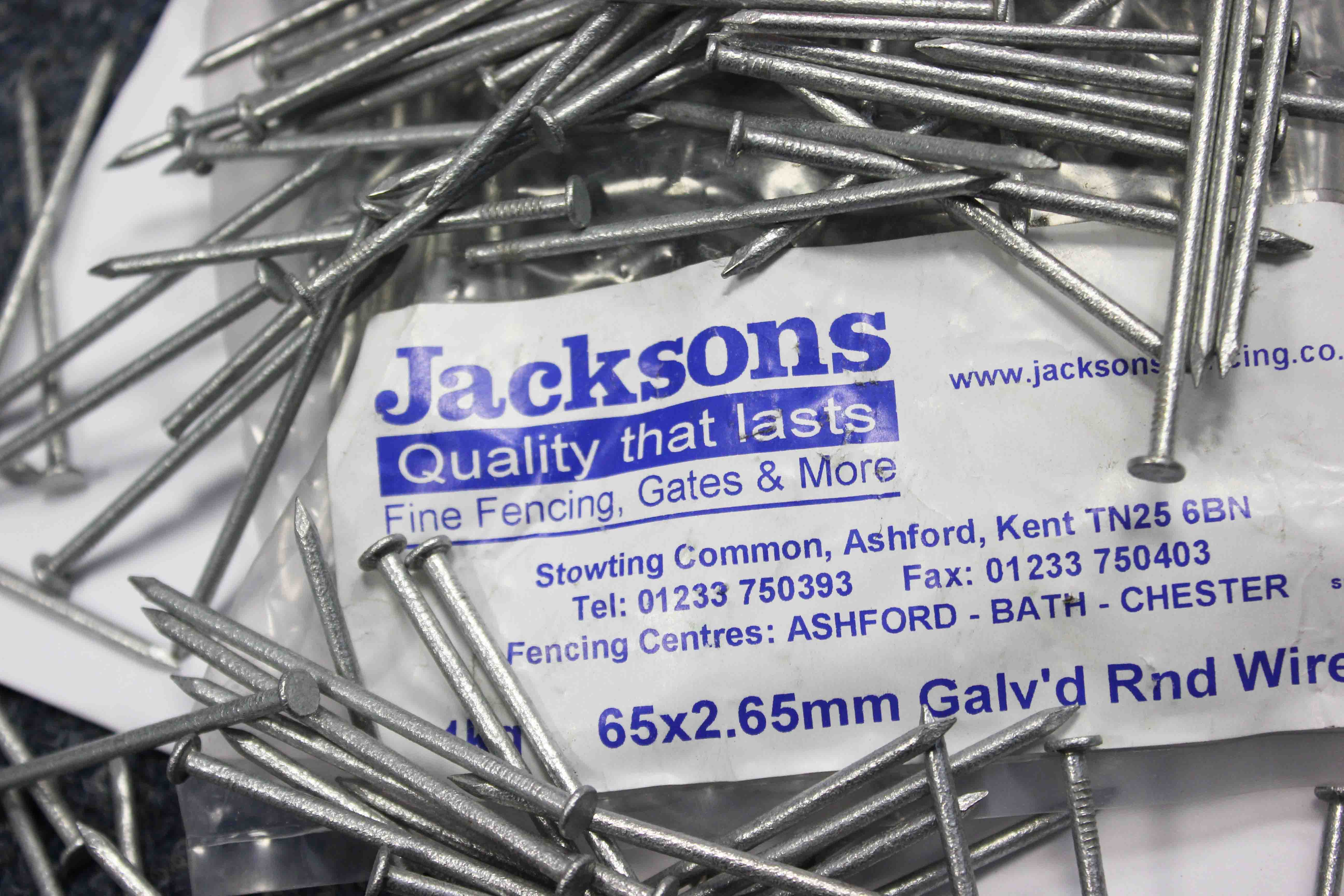 Galvanised 65mm nails