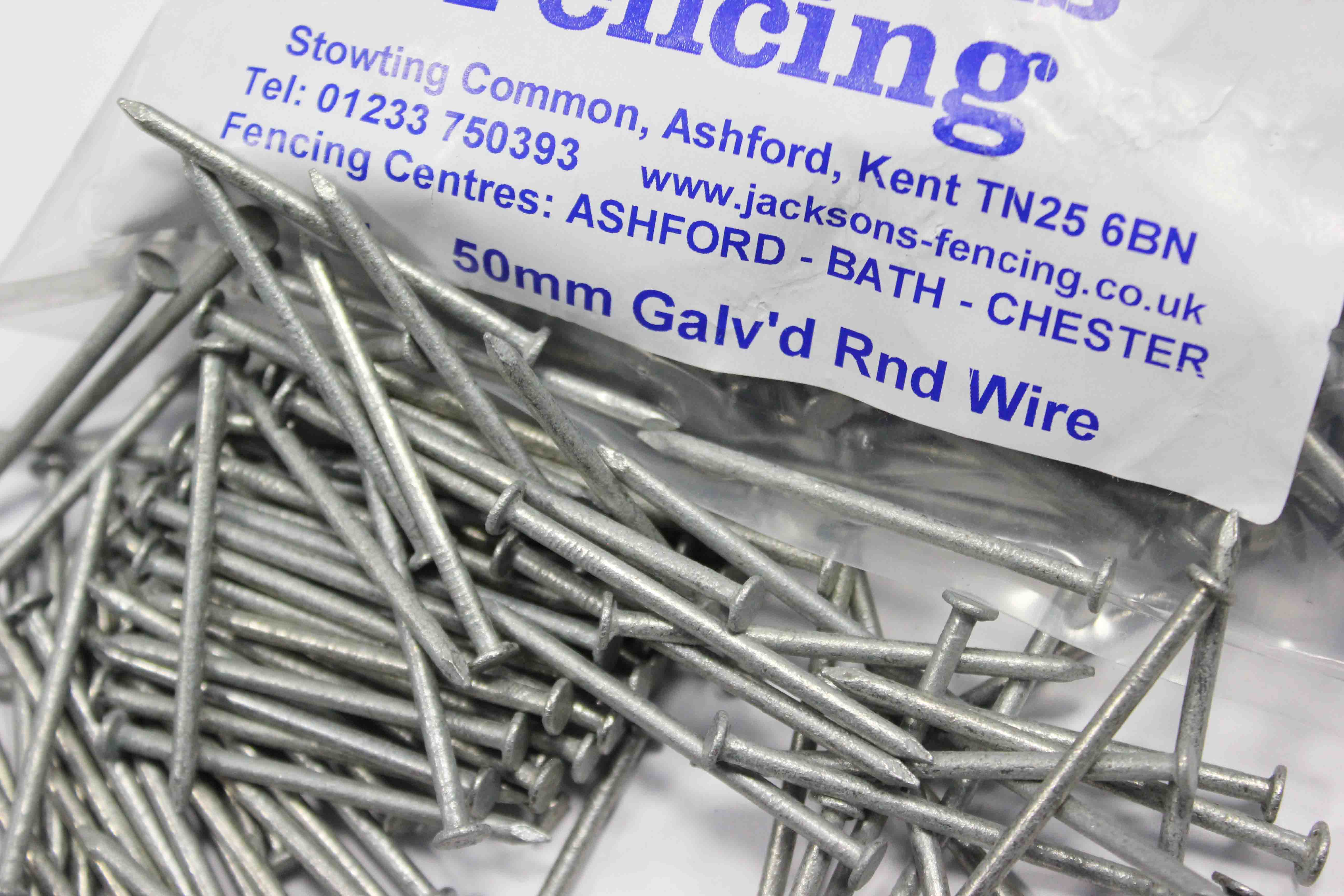 Galvanised Round Wire Nails-Choice of Length 50mm-100mm.