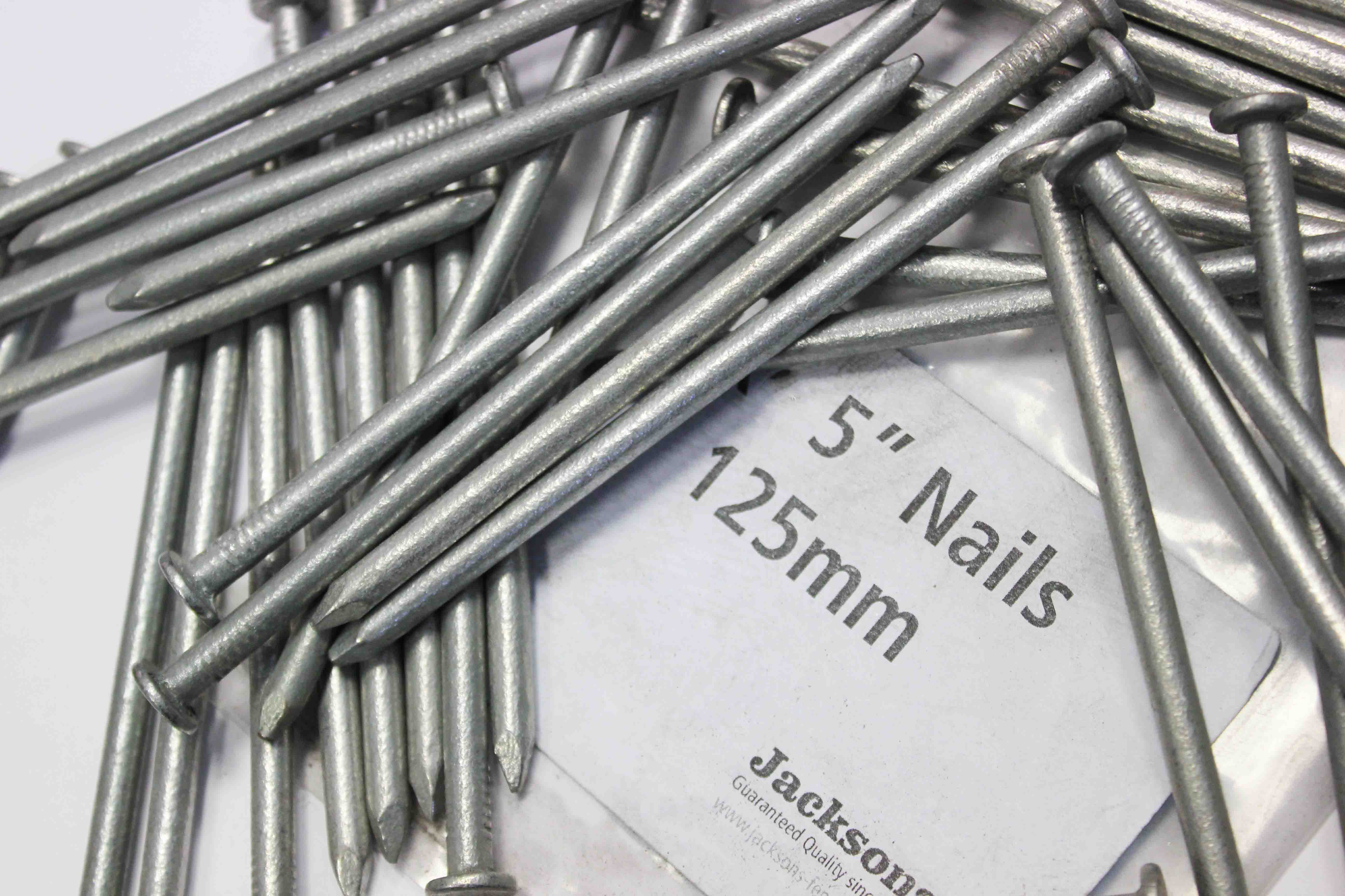 125mm galvanised 5 inch nails