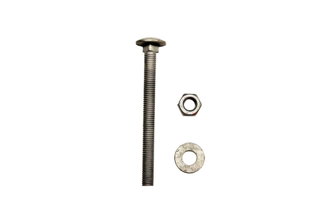 M10 x 110mm screw, washer and bolt fixings