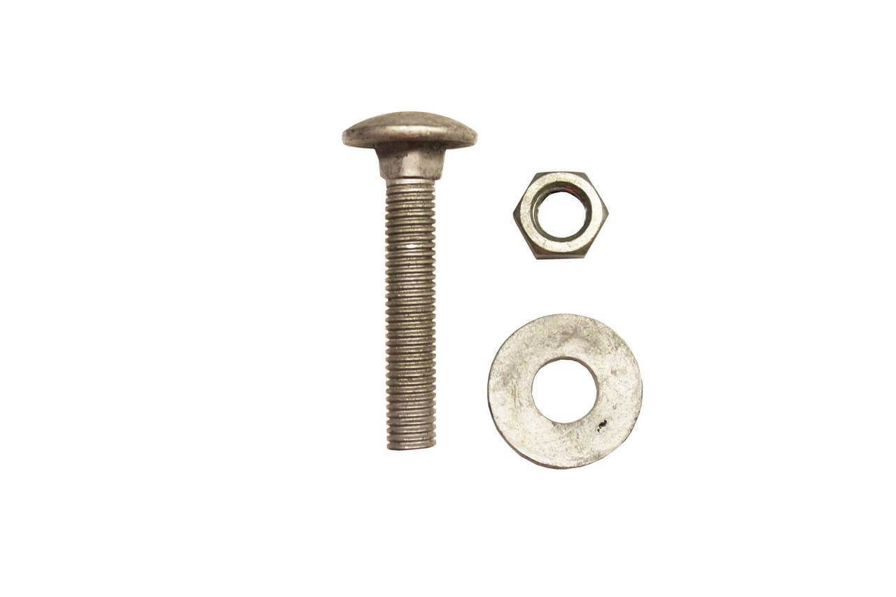 M12x 65 screw, washer and bolt fixings