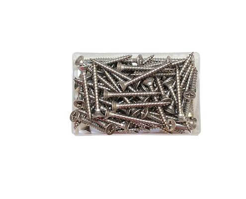 Stainless steel 40x5mm fencing screws. Pack of 10