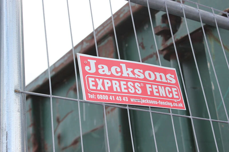 Temporary express fencing