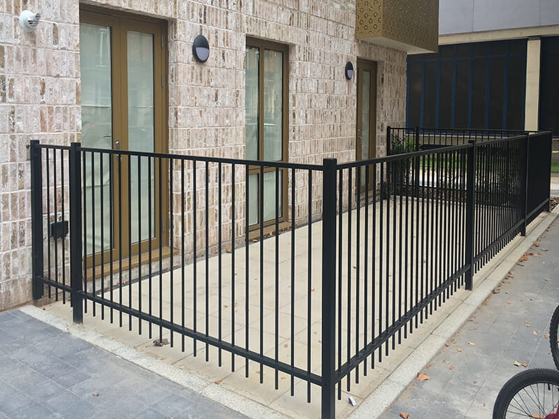 Residential metal railings