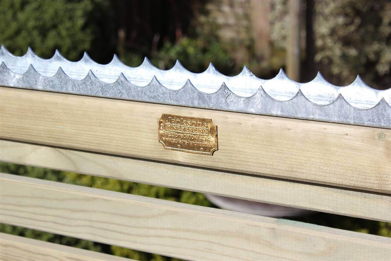 Securi Comb installed on a fence