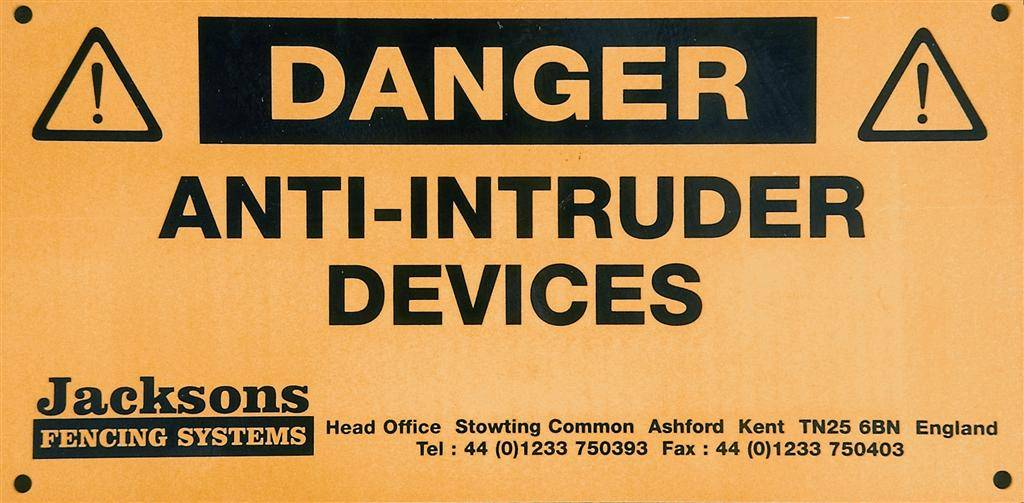 Anti Intruder Devices sign 329330