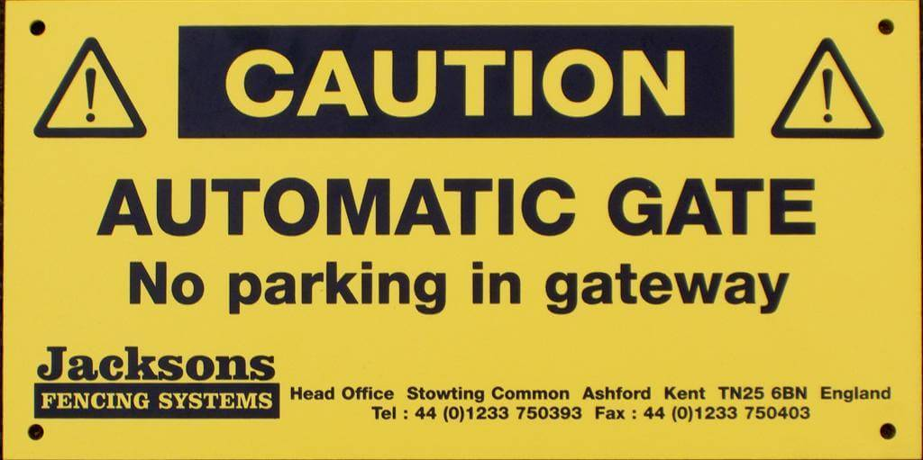 Warning Automatic Gate Sign 329331