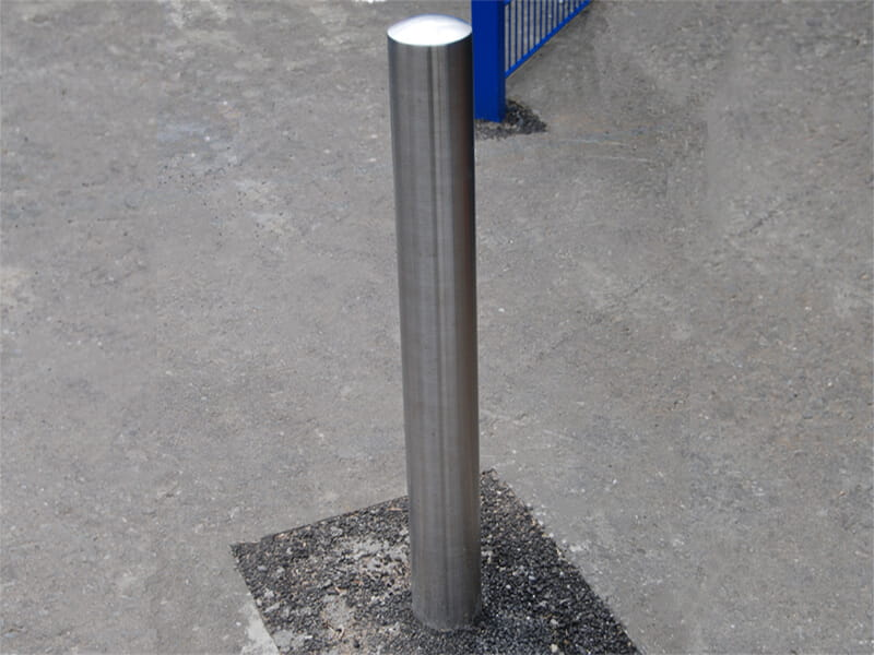 Domed top stainless steel bollard