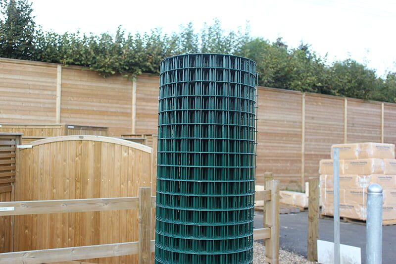Galvanised wire mesh fencing roll