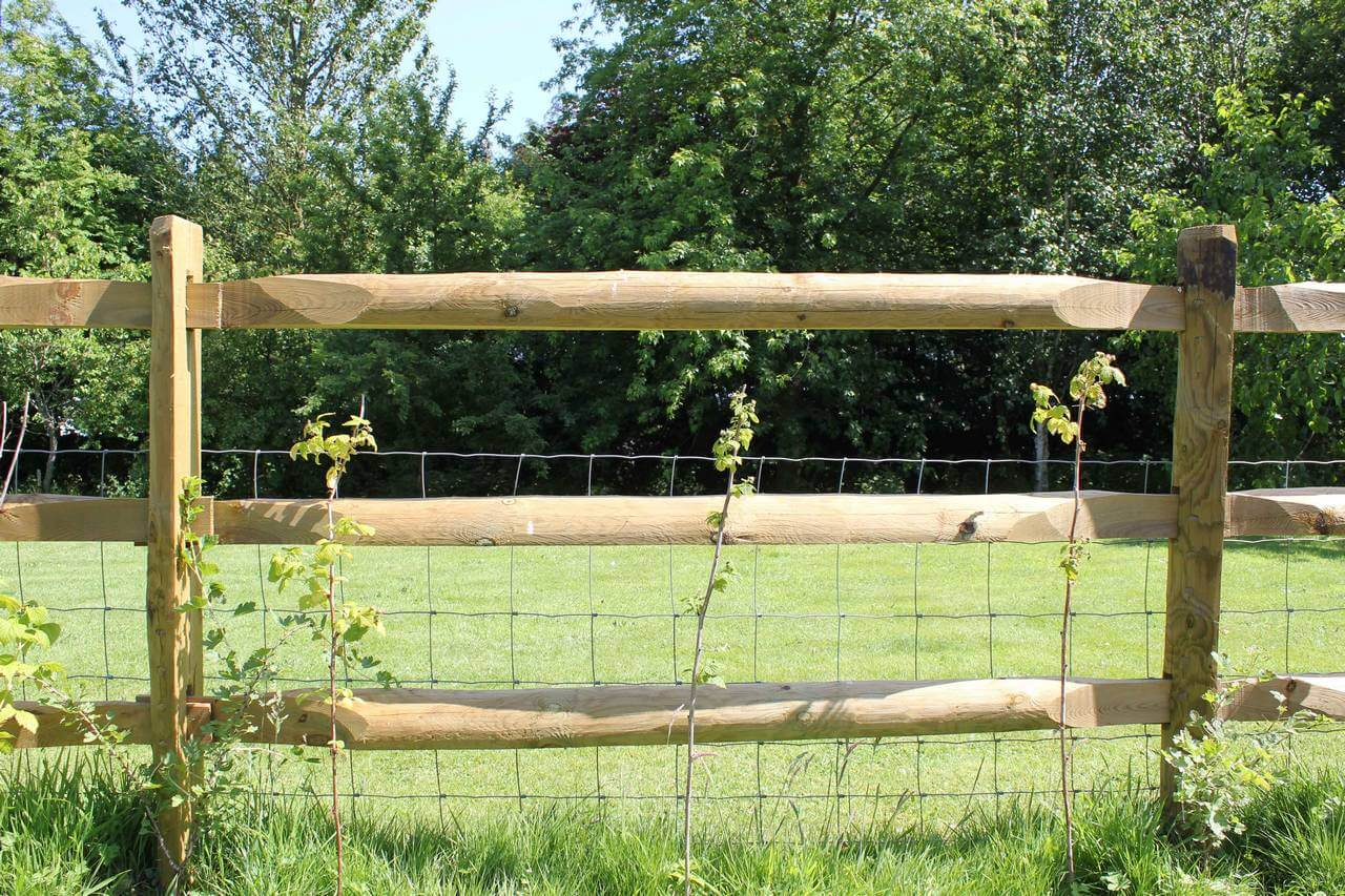 Morticed post and rail fencing