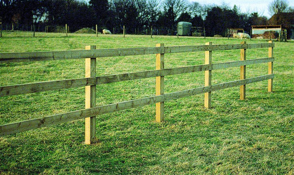 Nailed square post and rail fencing jacksons