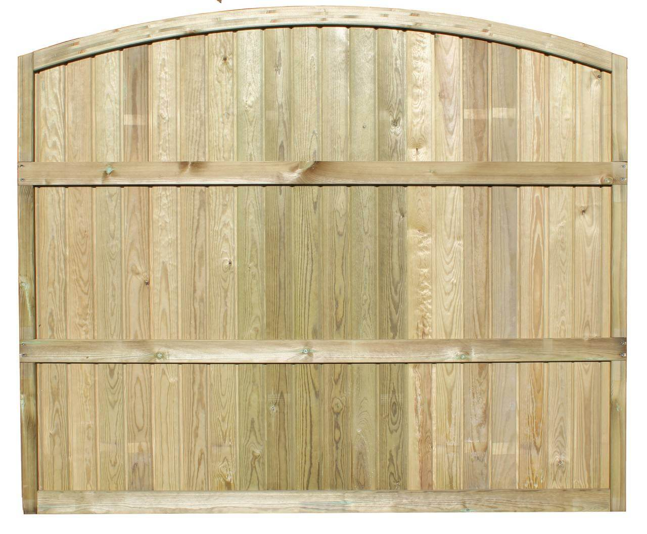 Rear View Tongue and Groove Convex Fence Panel