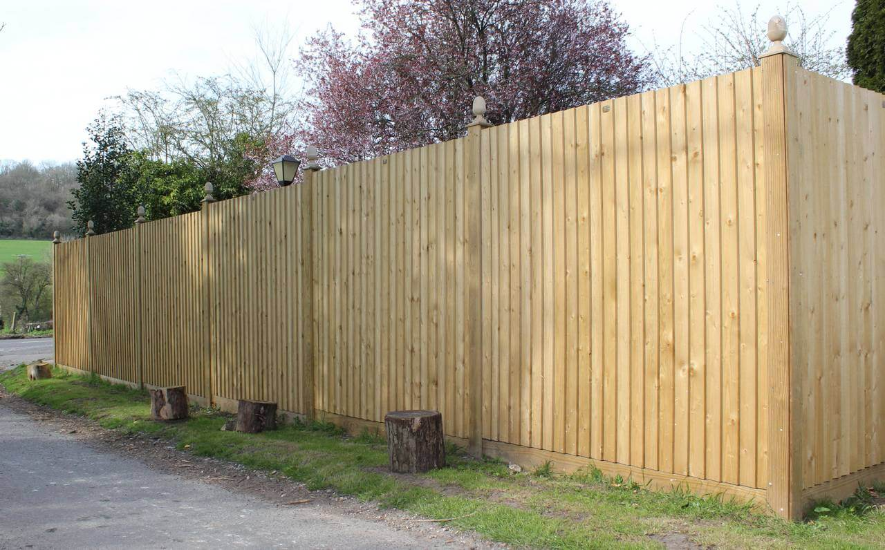 Feather Edge fencing near farm