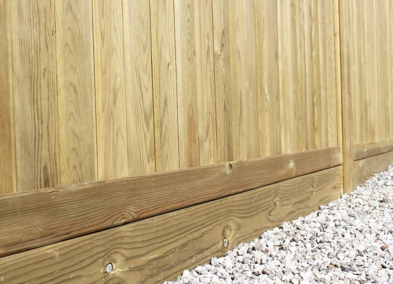 Wooden gravel boards