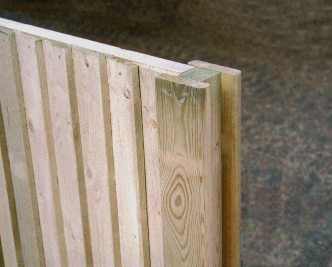 Slotted Timber Fence Post