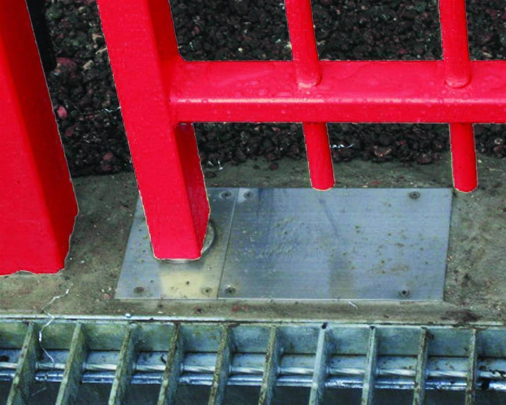 In ground Gate closer Red