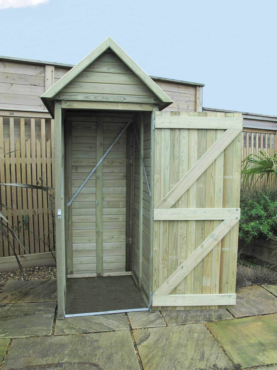 Tool Shed with door open