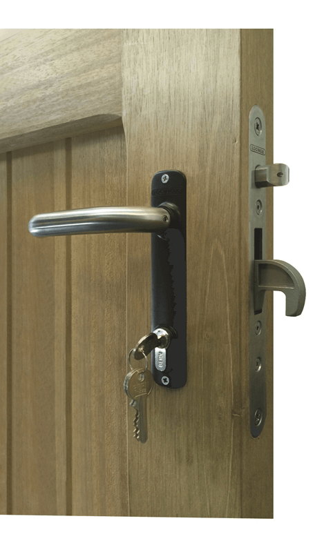 Courtyard and Heavy Framed Garden Gate Latch | Jacksons Fencing on