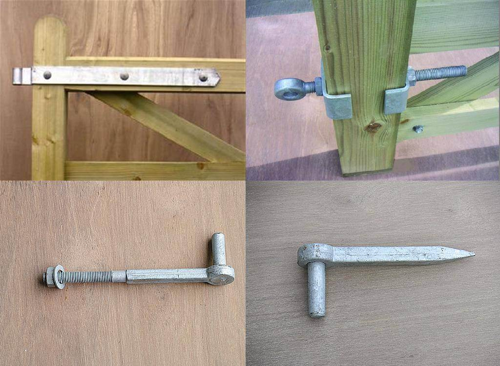 Timber Field Gate Hinge Set