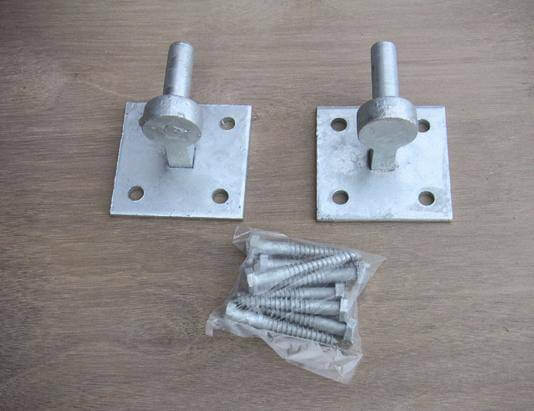 Pair of Gate Hooks on Plates