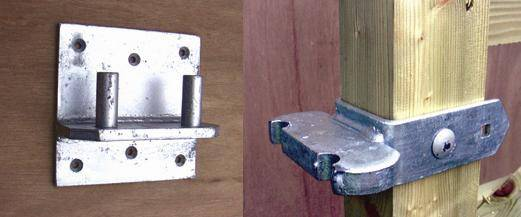 Timber Gate Rockerbottom Hinge Set