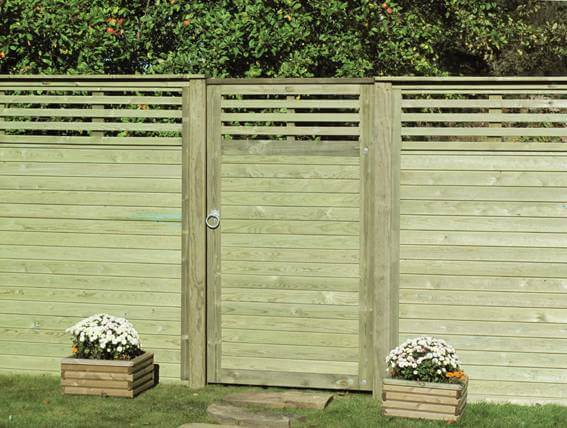 canterbury combi Fence Panels and Garden Gate