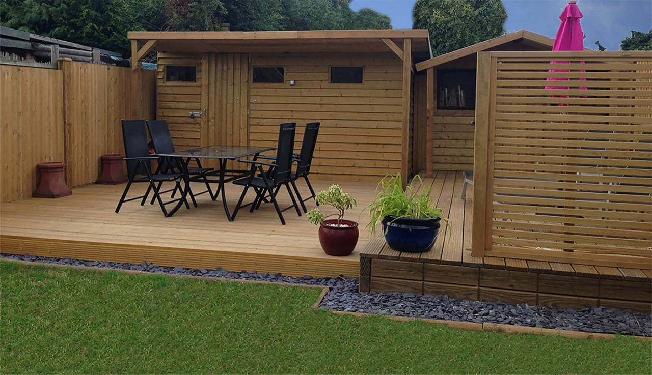 Decking jacksons fencing for Garden decking features