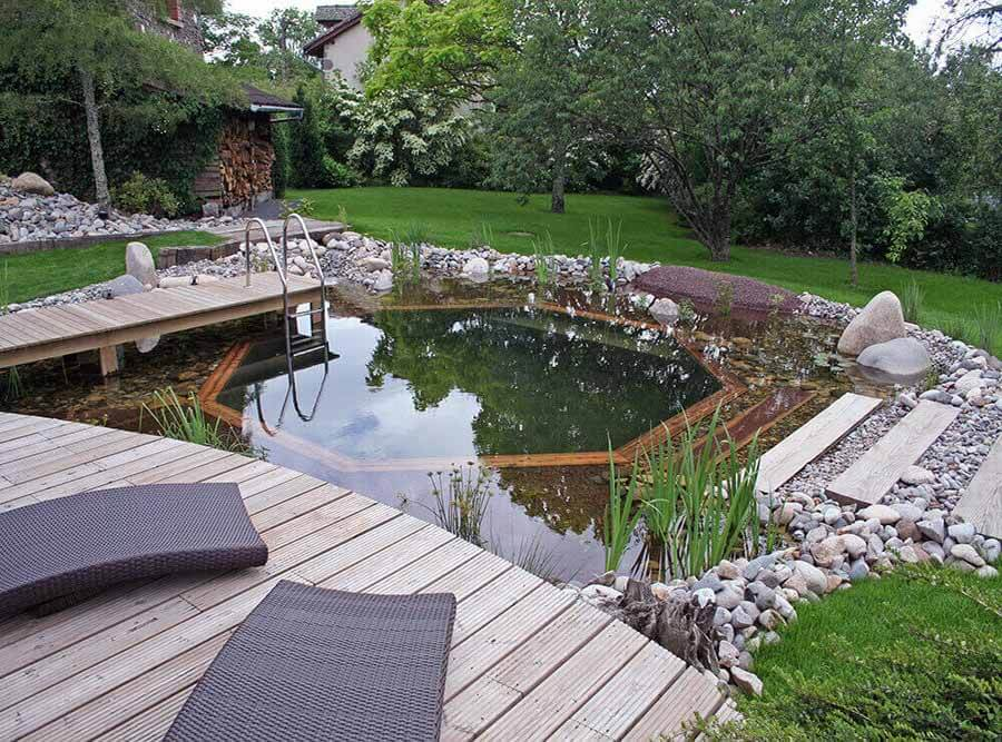 Beautiful garden with decking
