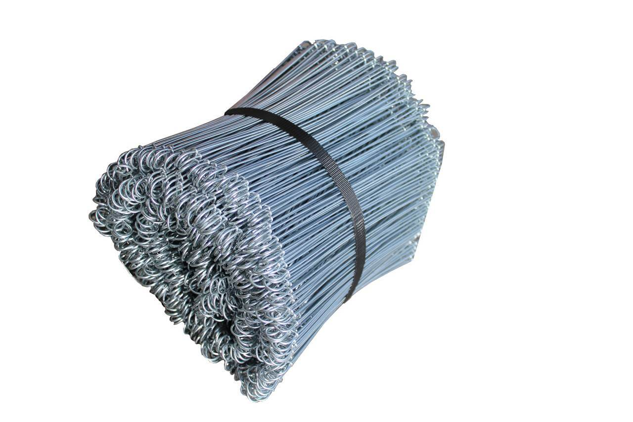 200mm galvanised wire ties