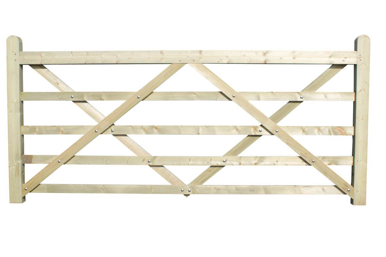 2.70m field field or drive wooden gate