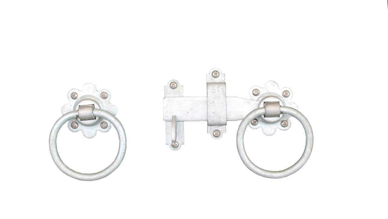 Ring latch and handle hoop. Galvanised