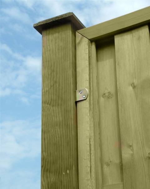 Fence panel to post clips