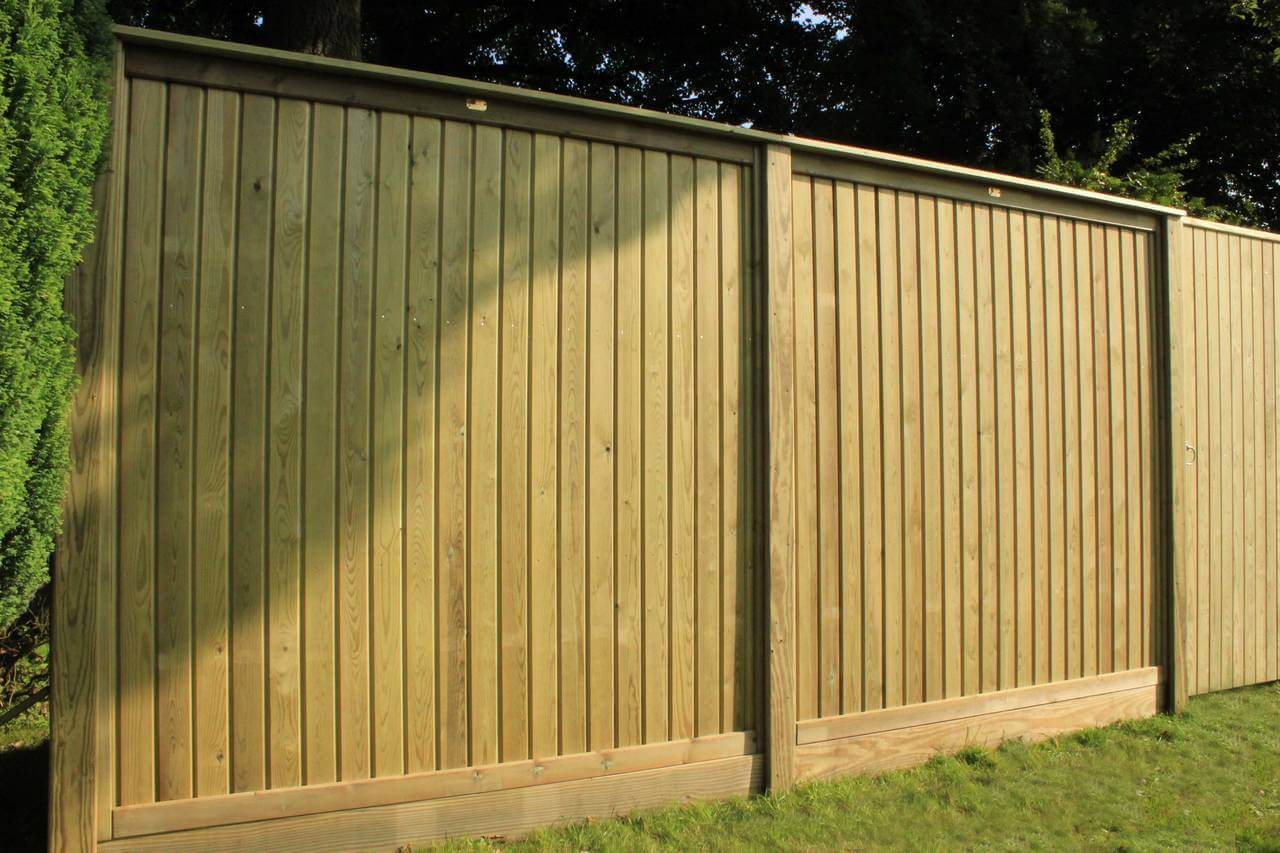 Tongue and Groove fence panels in sunlight