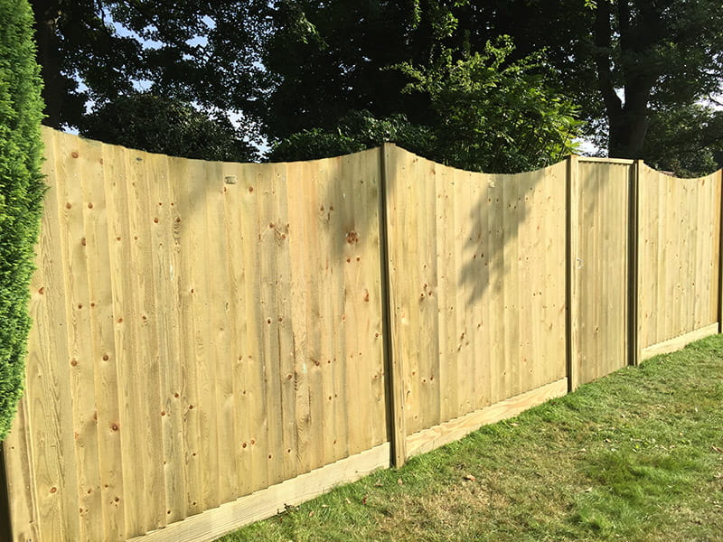 Featherboard Concave Fence Panel