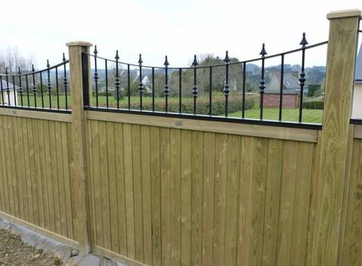 Fence panels and railing
