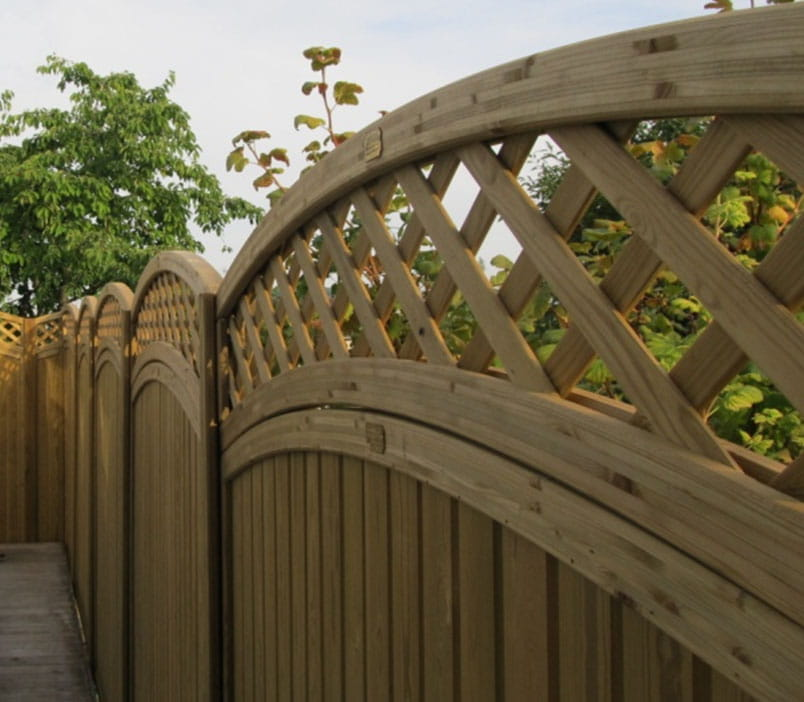 Curved Framed Trellis