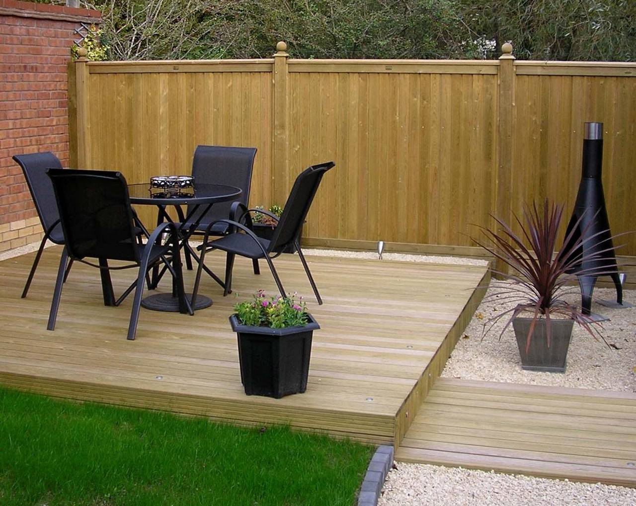 Premium Tongue and Groove Fence panels with deck