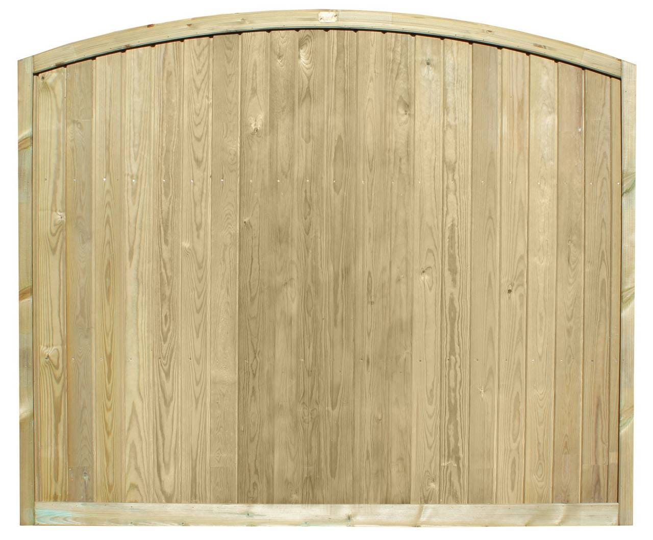 Tongue and Groove Convex Fence Panel