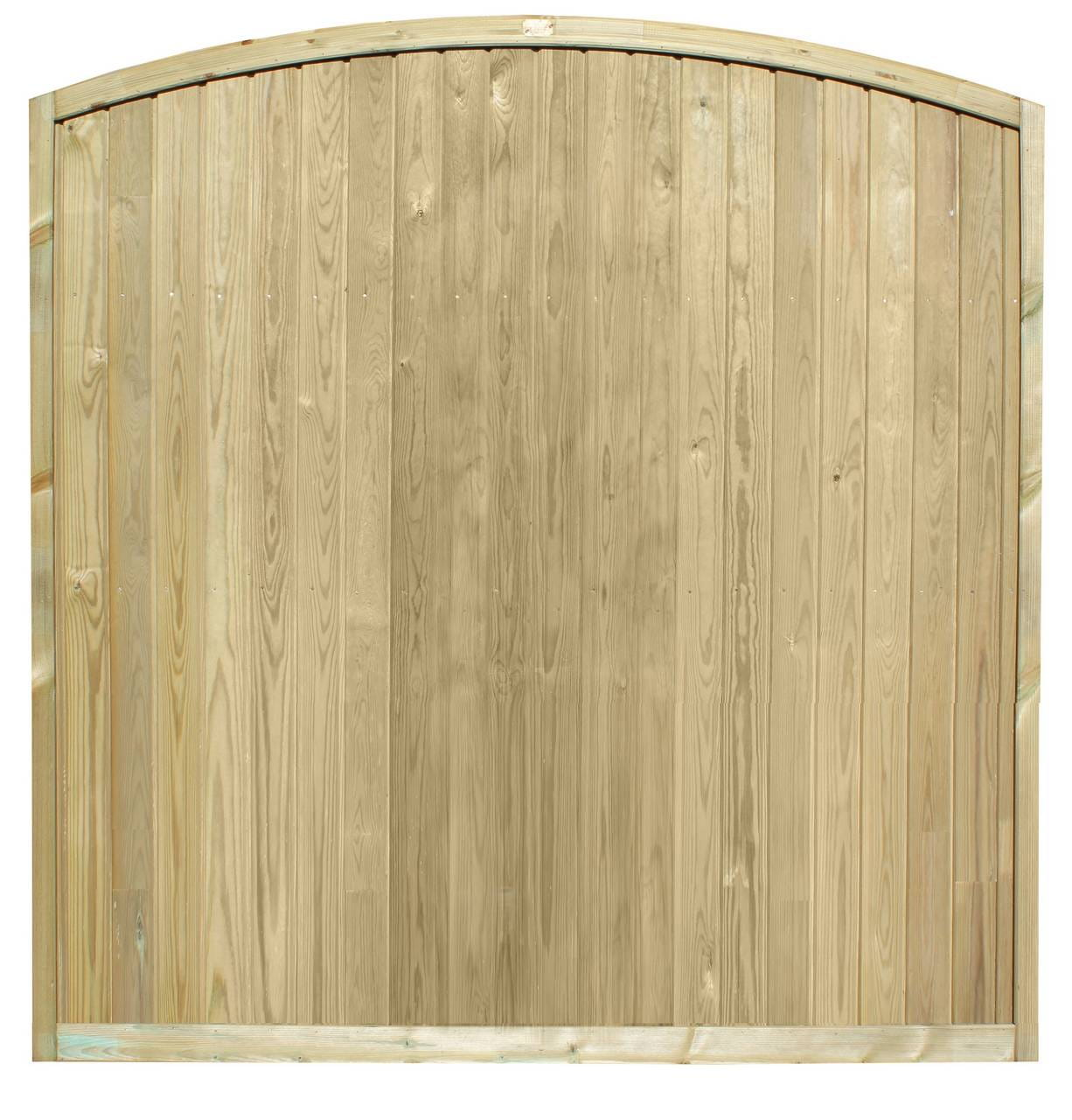 Tongue and Groove Convex Fence Panel 6ft