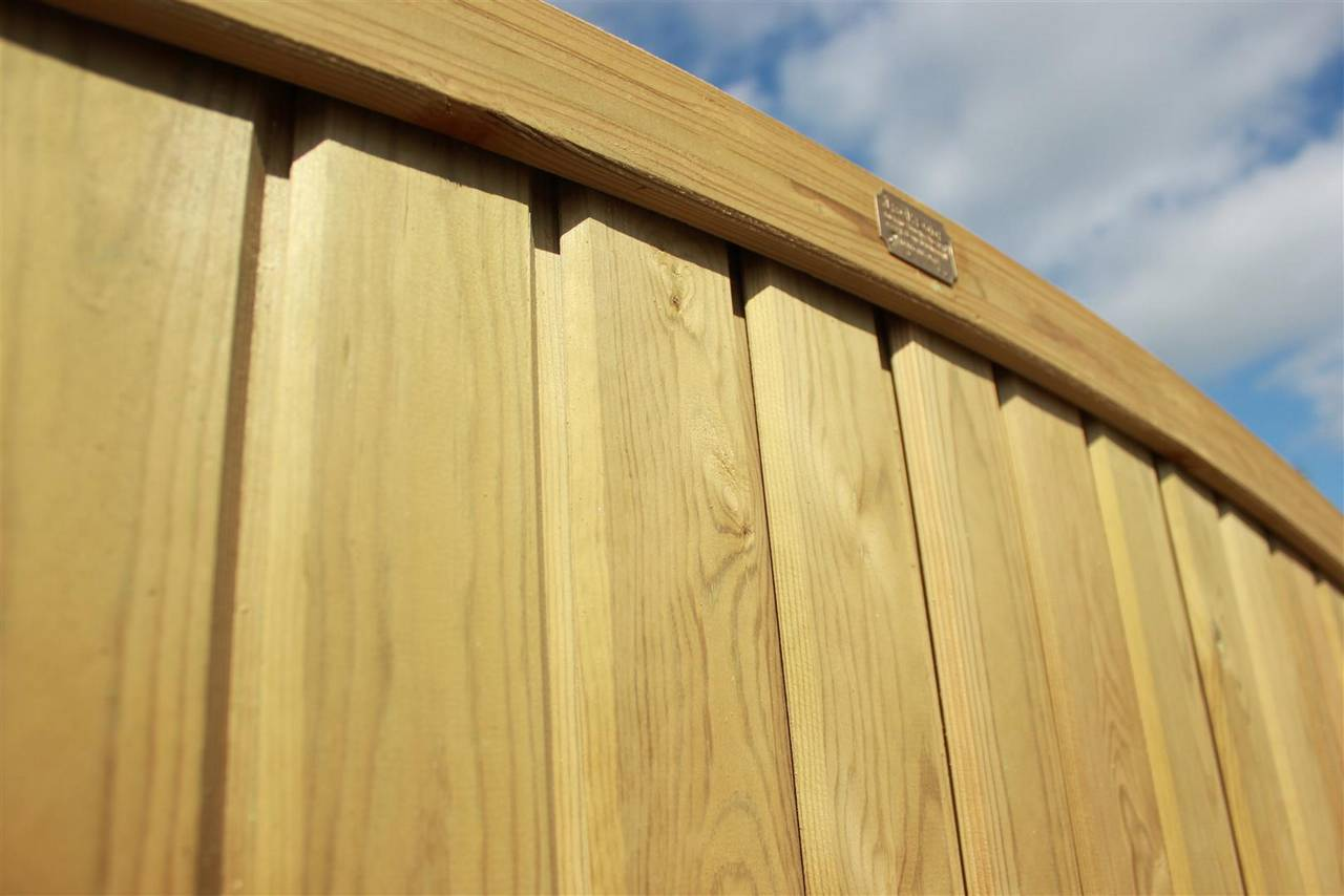 Tongue and Groove Convex Premium Fence Panel