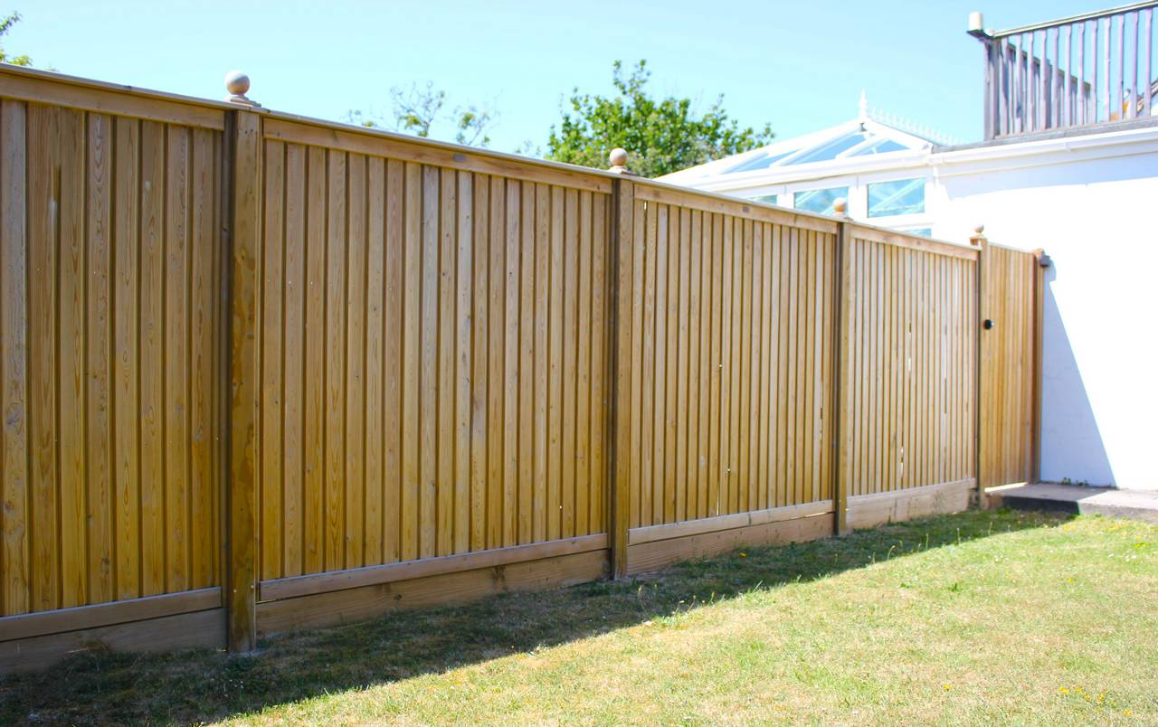 Tongue and Groove timber fence panels and gate