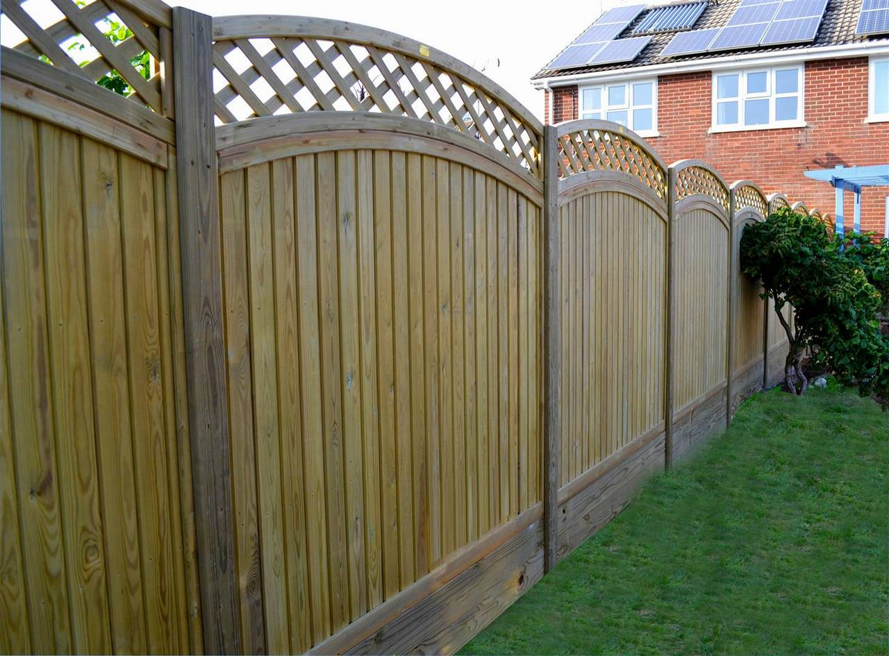 Curved top Tongue and Groove Fence Panel