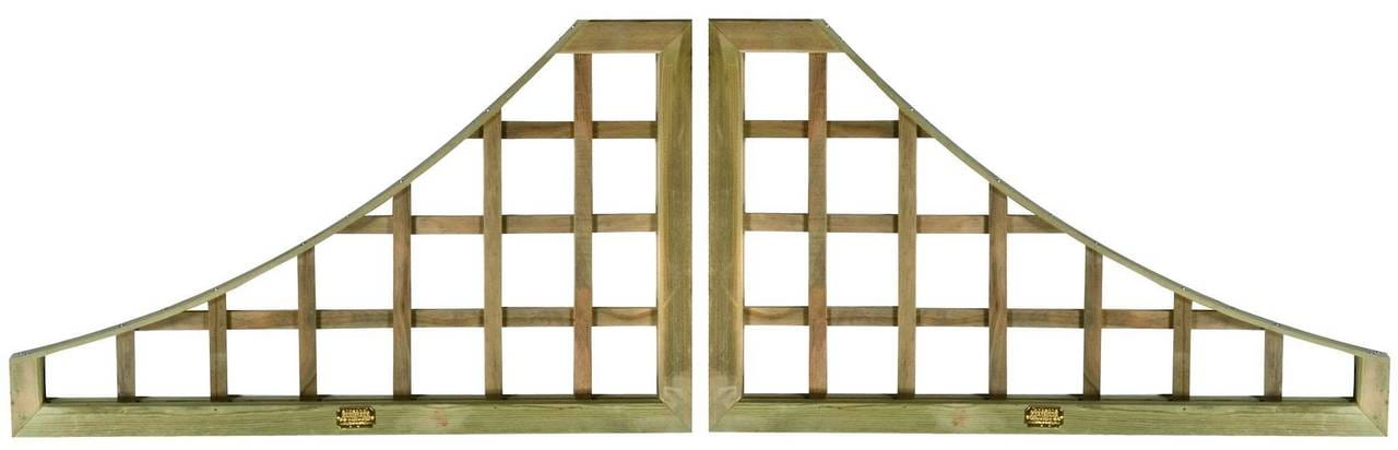 Pair Trellis Square Panels