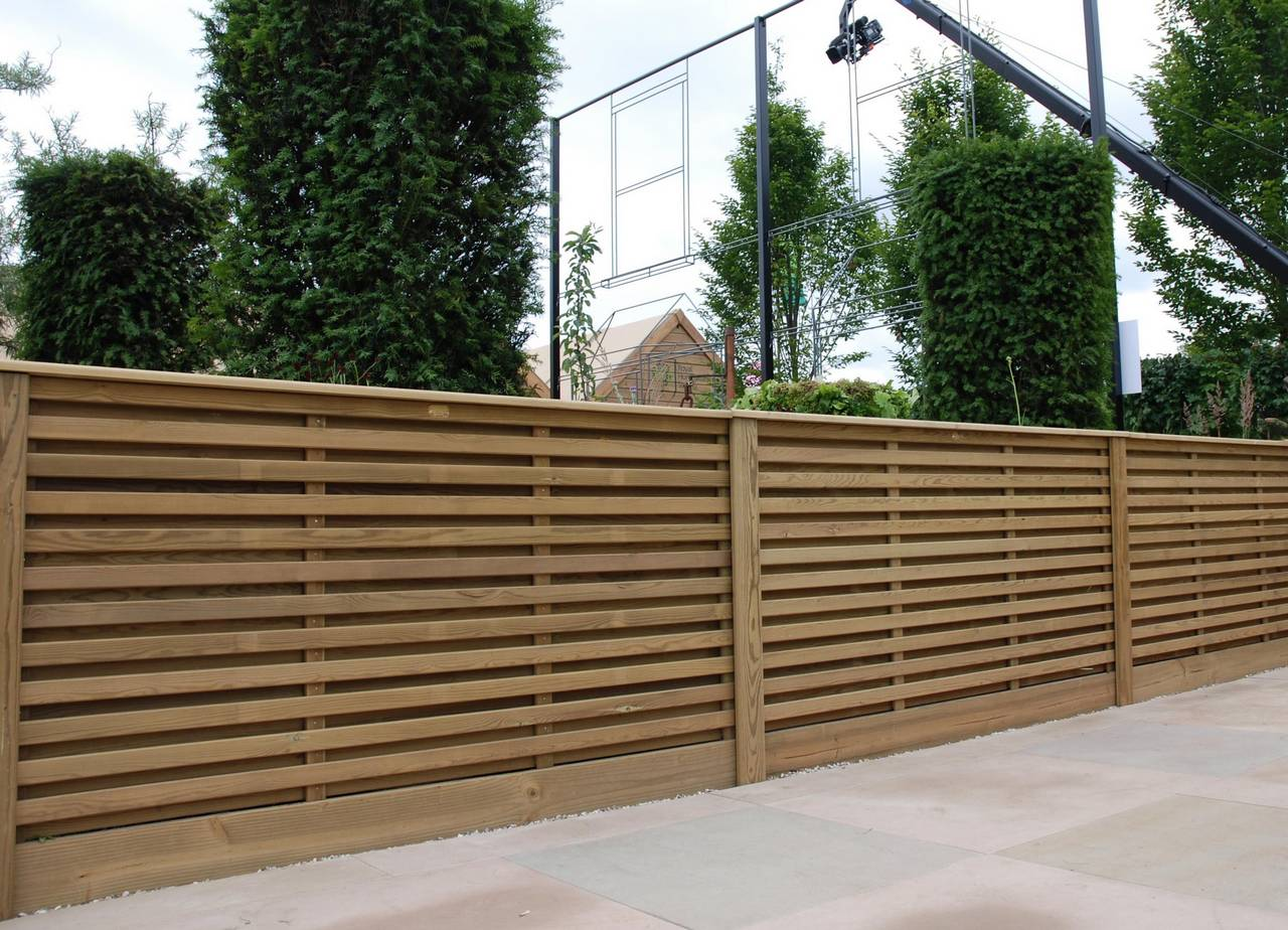 Venetian hit and miss fence panels