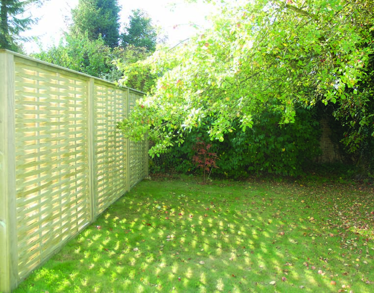 Woven Fencing Panels in the sun