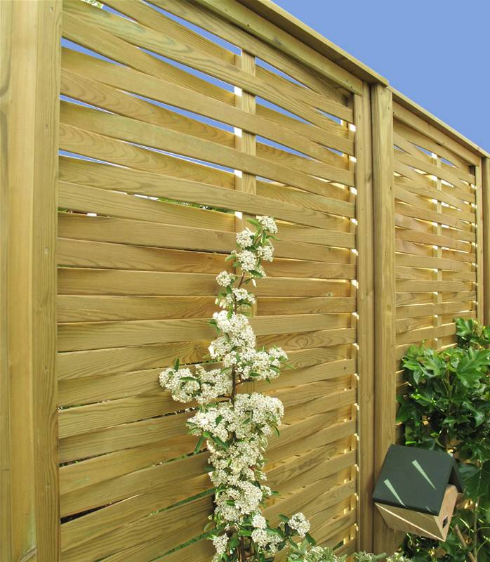 Woven style Fence Panels with plants