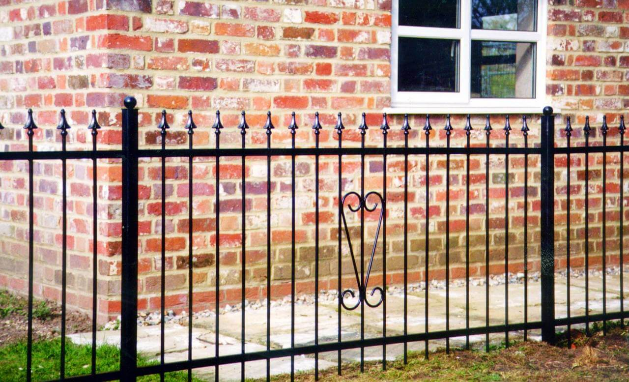Stelling metal railing detail