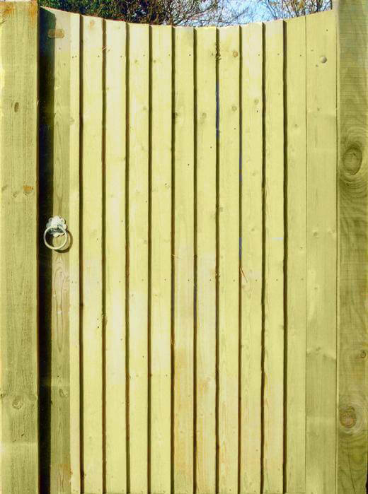 Concave Featherboard Garden Gate