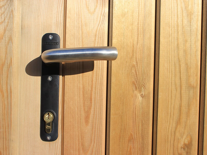 j lock fitted in gate
